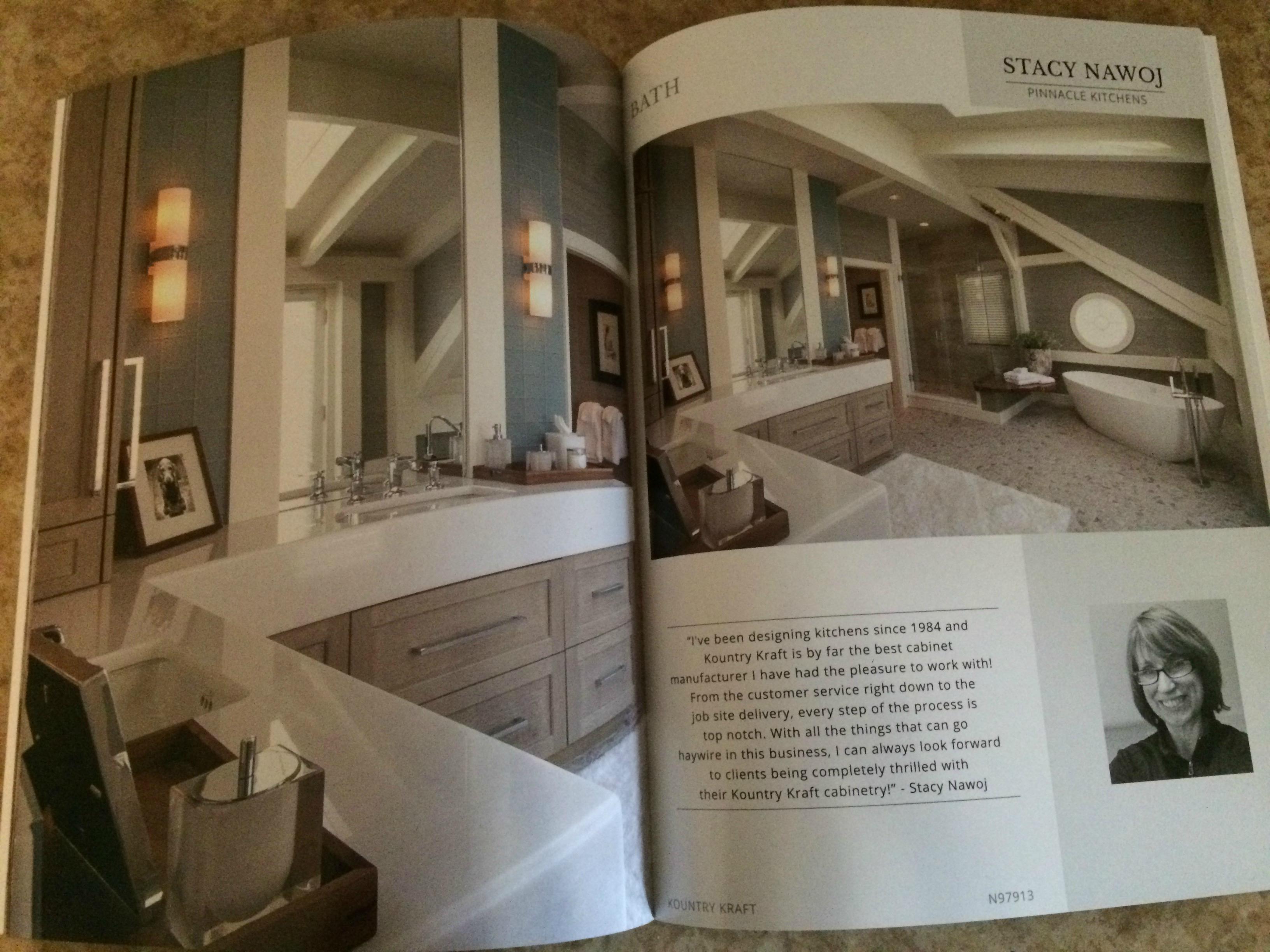 Bath design featured in Kountry Kraft catalog.